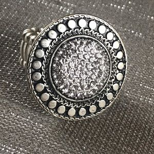 Jewelry - Silver Pave Cocktail Ring